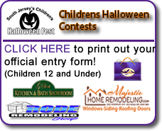 Click to print out the office entry forms for the upcoming 2nd Annual South Jersey's Children's Halloween Fest children's contest
