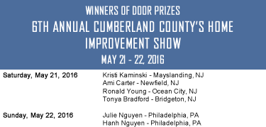 6th Annual Cumberland County's Spring Home Improvement Show Door Prize Winners