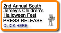 2nd Annual South Jersey's Children's Halloween Fest Voorhees, NJ Press Release