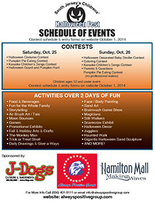 The 2nd Annual South Jersey's Children's Halloween Fest Schedule of Events - Mays Landing, NJ