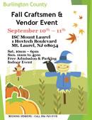 Burlington County Fall Craftsmen & Vendor Event In Mount Laurel, NJ