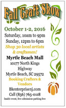 Myrtle Beach Fall Craft Show In Myrtle Beach, SC