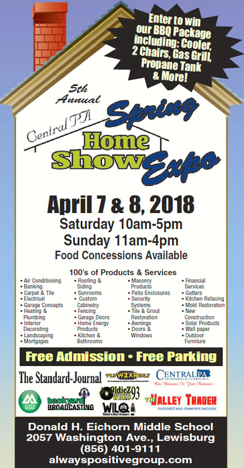 5th Annual Central PA Spring Home Show Expo and Sale Lewisburg, PA