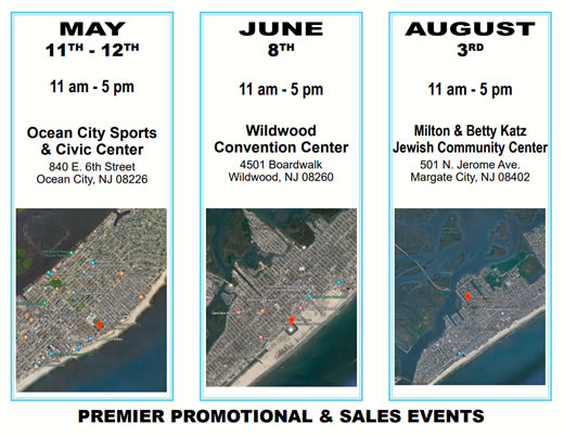 Spring & Summer Series Residential Living & Leisure Events in Ocean City, Wildwood, and Margate City, NJ