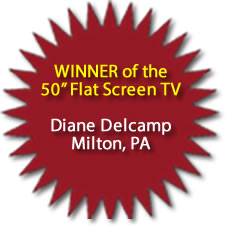 4th Annual Central PA Spring Home Show Expo Lewisburg, PA 50 Inch Flat Screen TV Winner